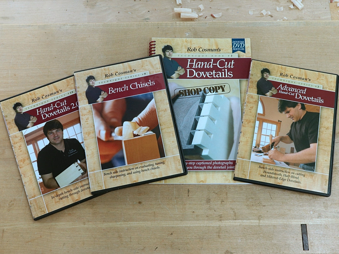 Rob Cosman's Dovetail Degree Video and Book Set