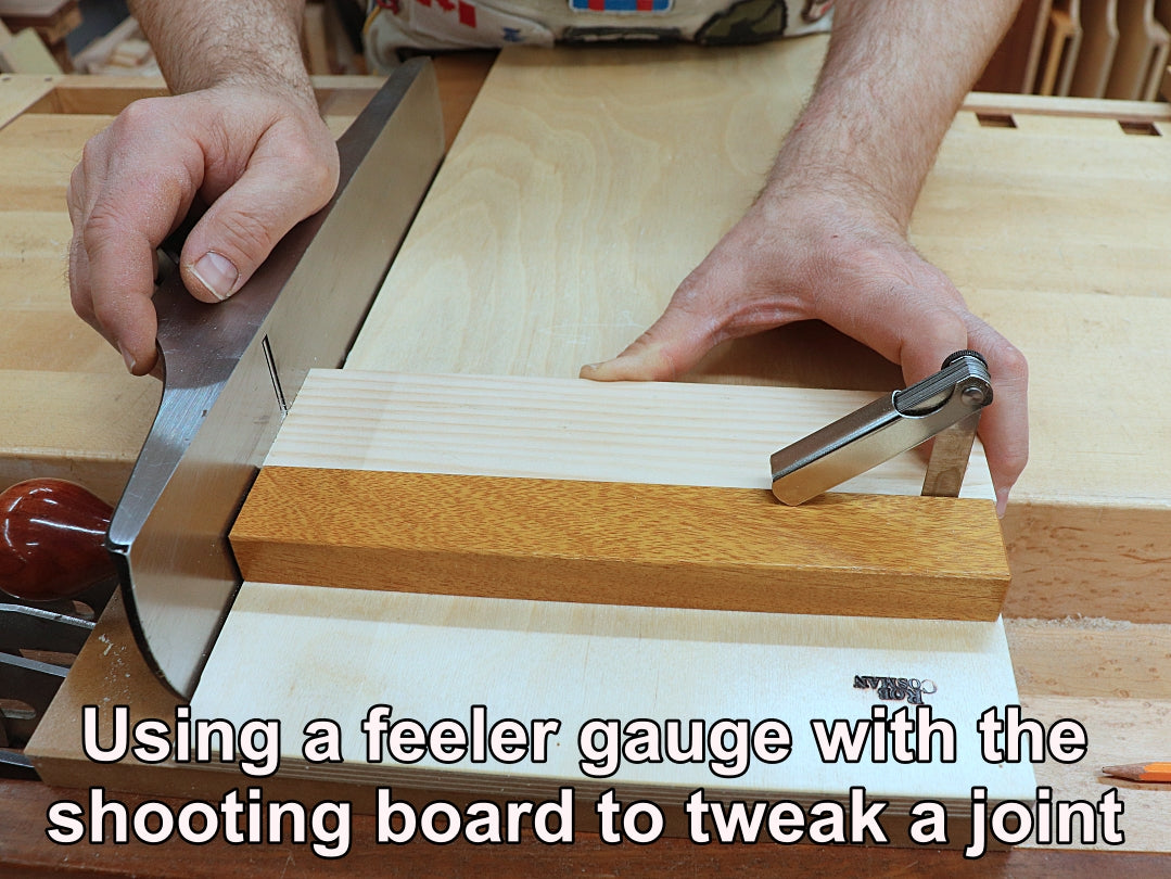 Using feeler gauge