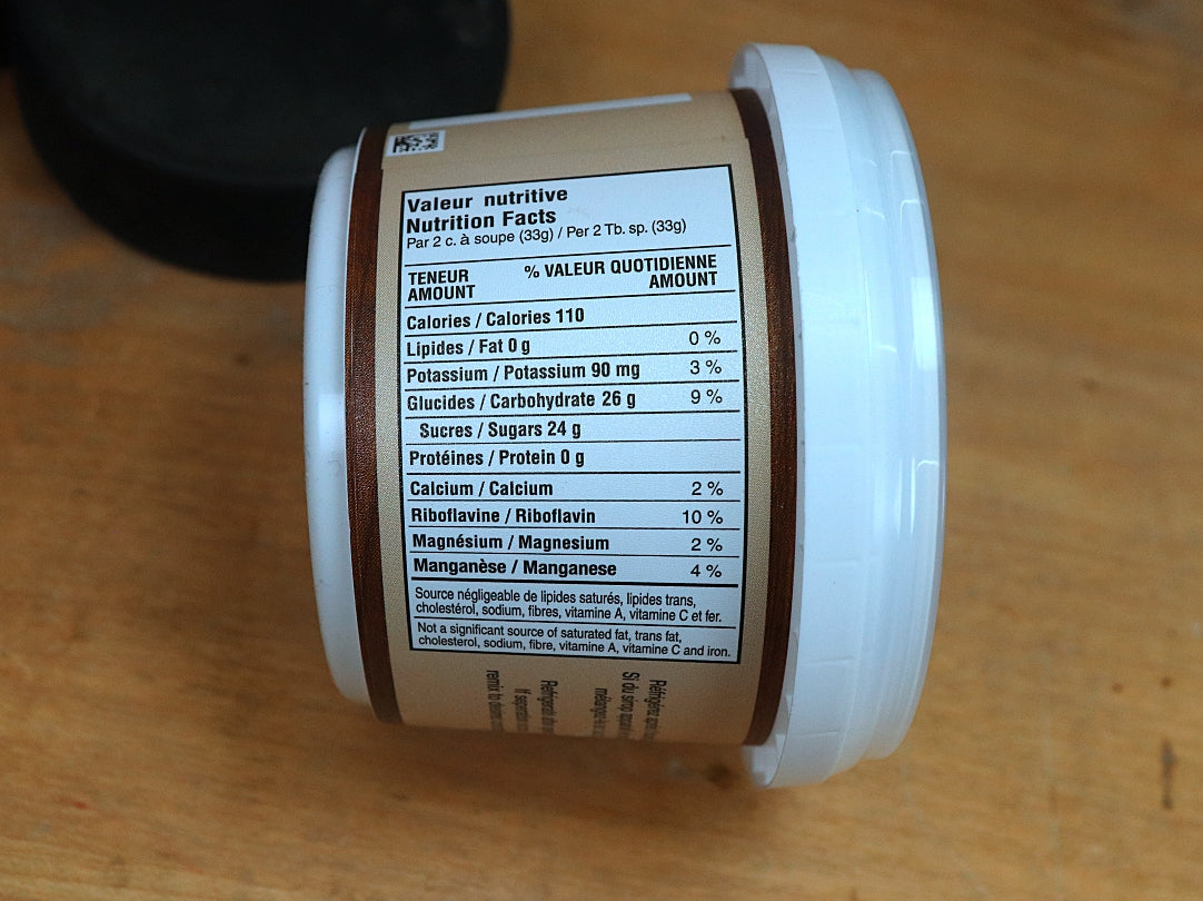 Maple Butter Nutrition Facts
