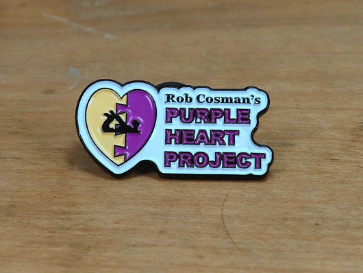 Purple Heart Project label pin