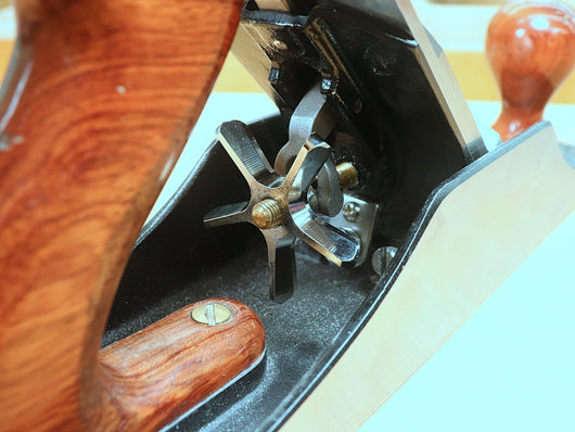 Plane AdjuSTAR on a WoodRiver # 5-1/2 bench plane