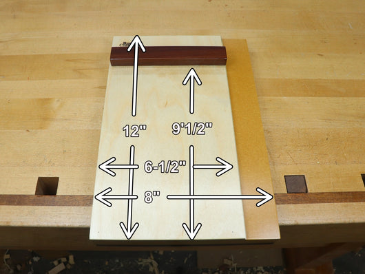 12 inch shooting board dimensions