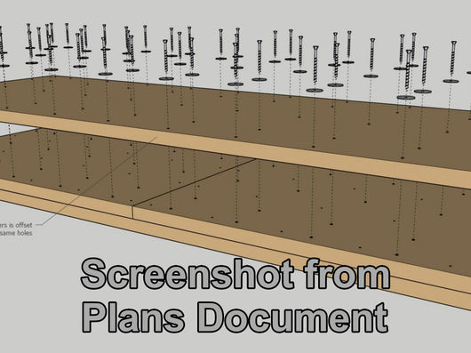 Sample picture from the plans document that comes with the Cosman Workbench video