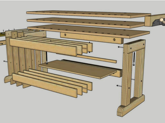Plans: The Cosman Workbench
