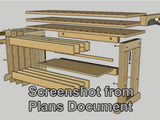 Sample picture #2 from the plans document that comes with The Cosman Workbench video