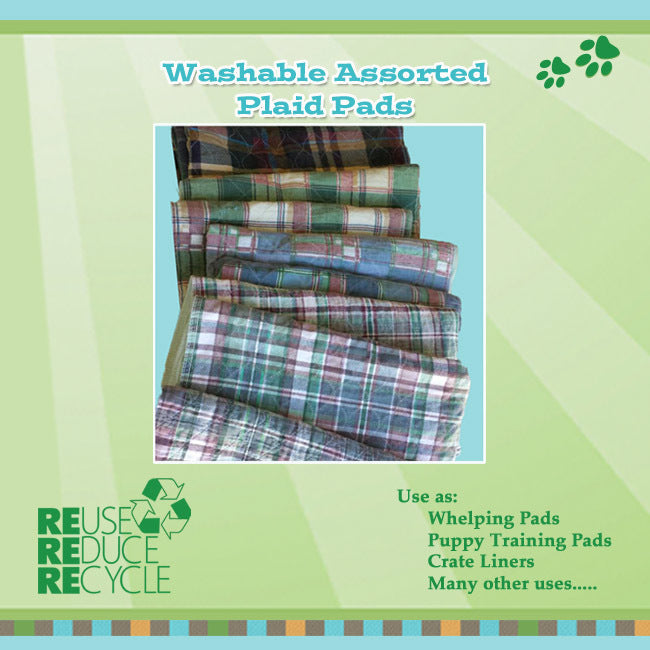 Includes US Shipping - 5 Assorted Plaid Pads, Quilted Tops (reclaimed)
