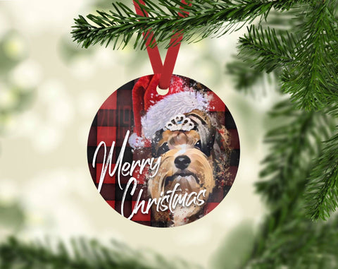 Have a Merry Yorkie Christmas Ornament