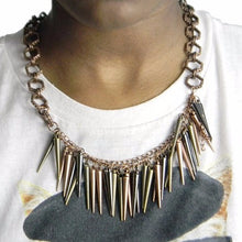 Spiked Copper Statement Necklace