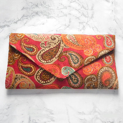 Paisley Envelope Clutch Bag