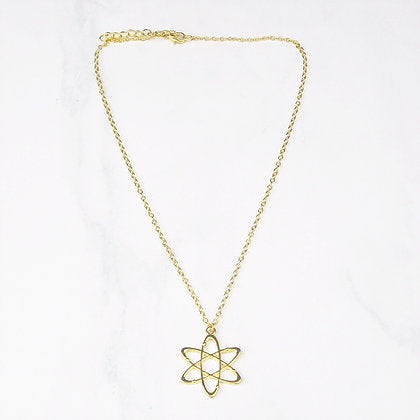 Gold Atom Pendant Necklace