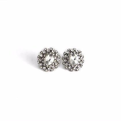 Cluster Rhinestone Stud Earrings