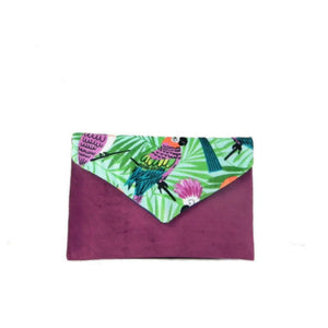 Tropical Parrot Envelope Clutch Bag
