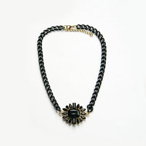 Black Gold Chain Pendant Necklace
