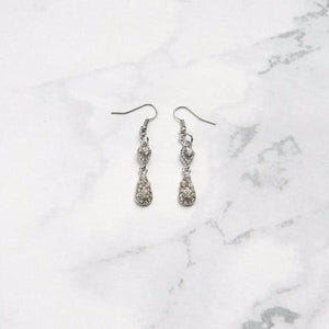 Silver Minimalist Drop Earrings