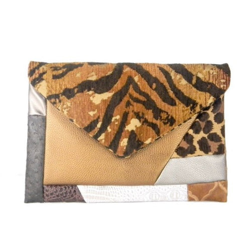 Copper Patch Envelope Clutch Bag