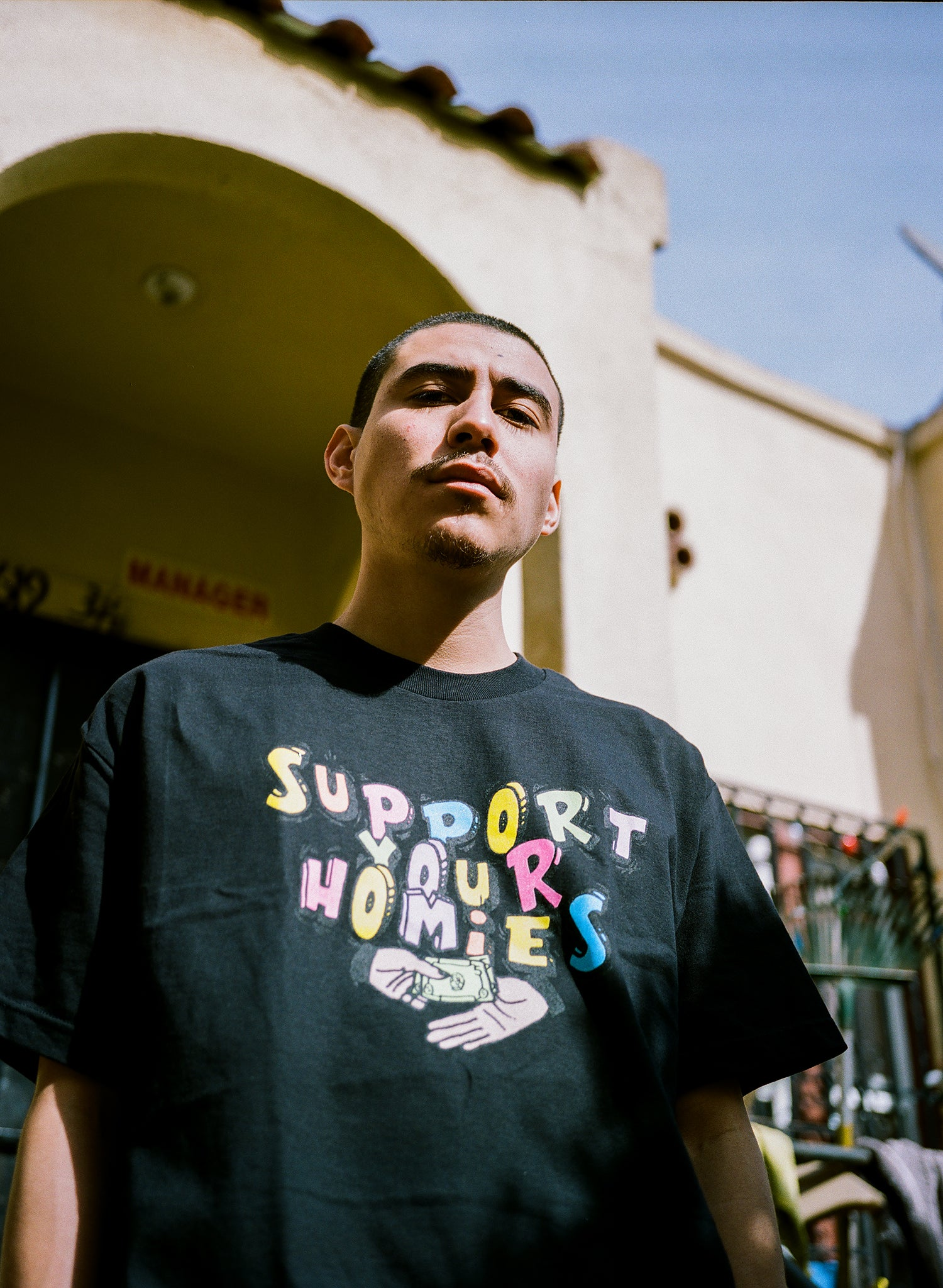 Support Your Homies Tee - Black