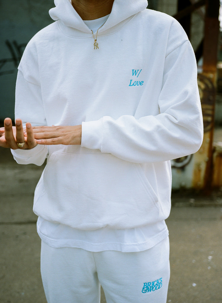 White W/ Love Logo Sweatpants