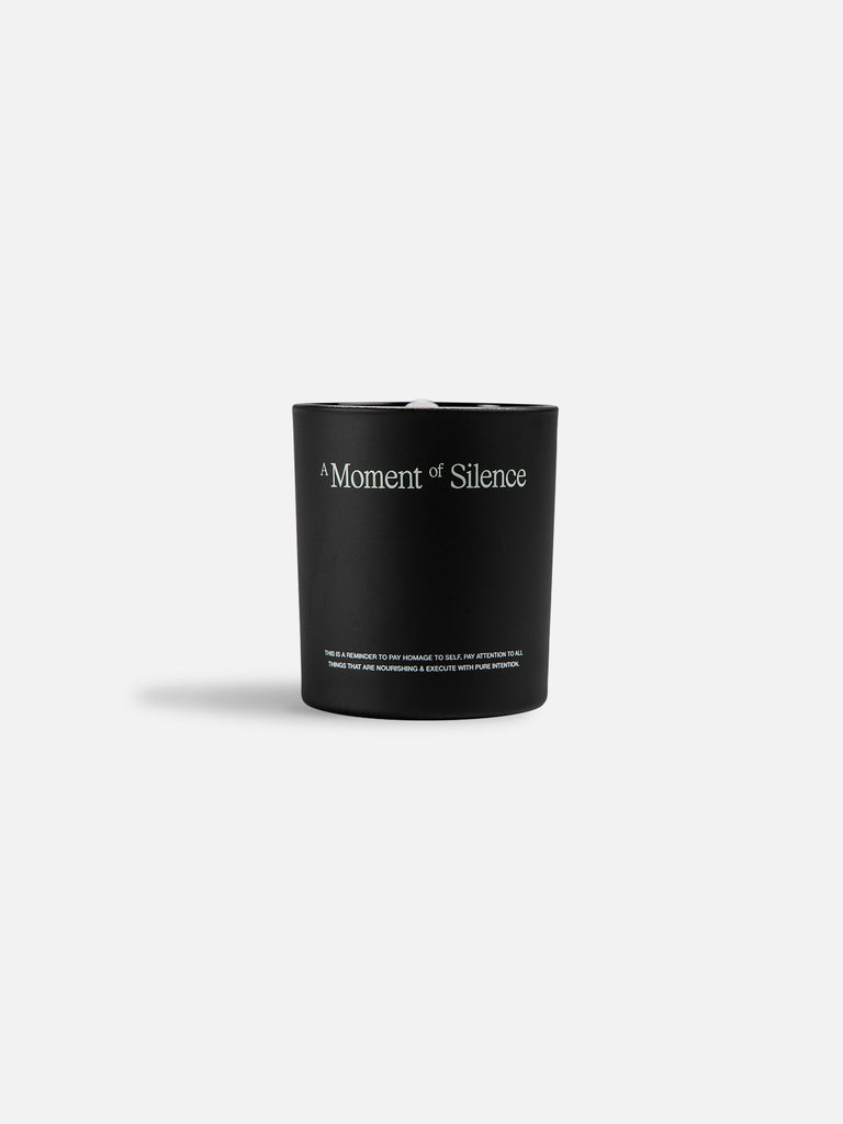 A Moment of Silence Candle - Black