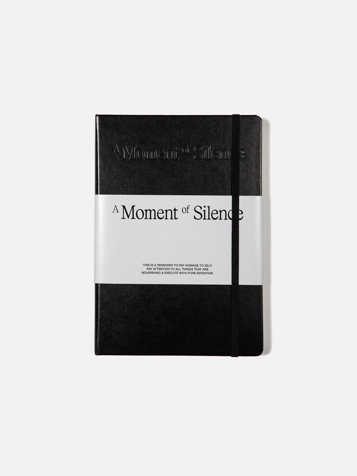A Moment of Silence Journal - Black