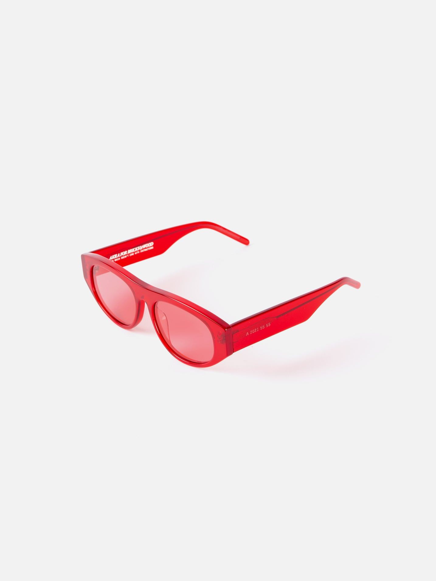 "Akila x Bricks & Wood ""Halldale"" Sunglasses - Red"