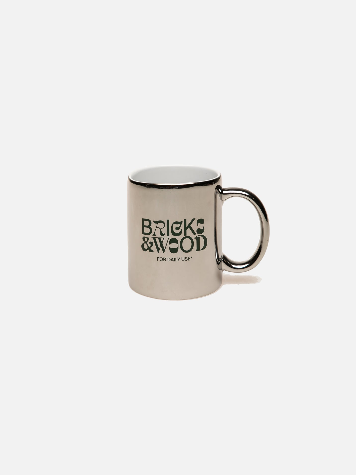 For Daily Use* Pencil Holder/Coffee Mug - Chrome/Green
