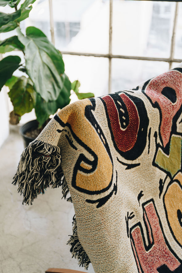 Support Your Homies Woven Throw Blanket