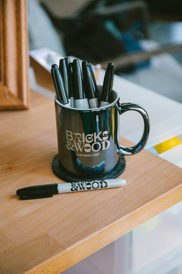 For Daily Use* Pencil Holder/Coffee Mug - Slate Blue
