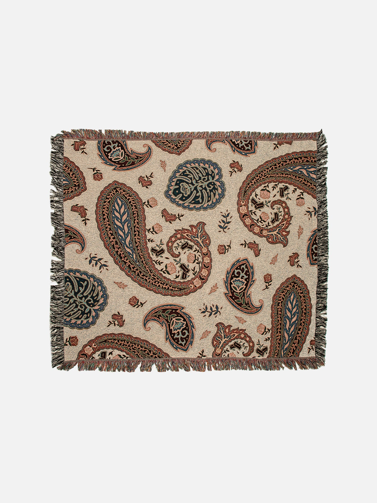 Justin's Paisley Woven Throw Blanket