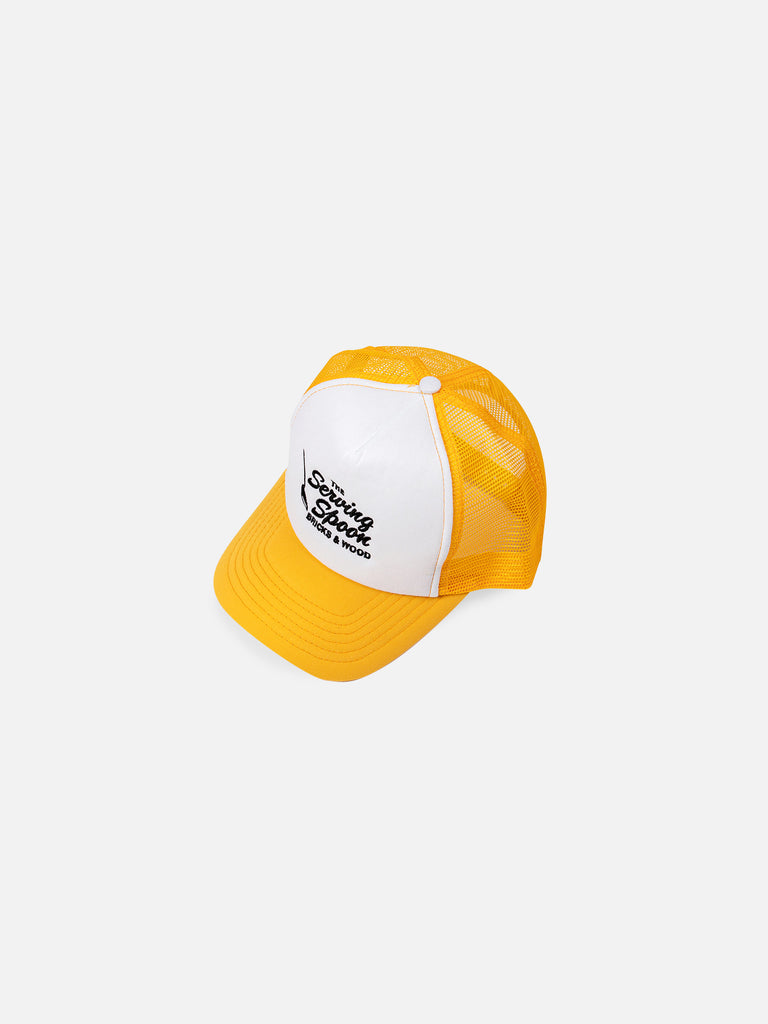 The Serving Spoon x Bricks & Wood Family Style Trucker Hat - Yellow/White