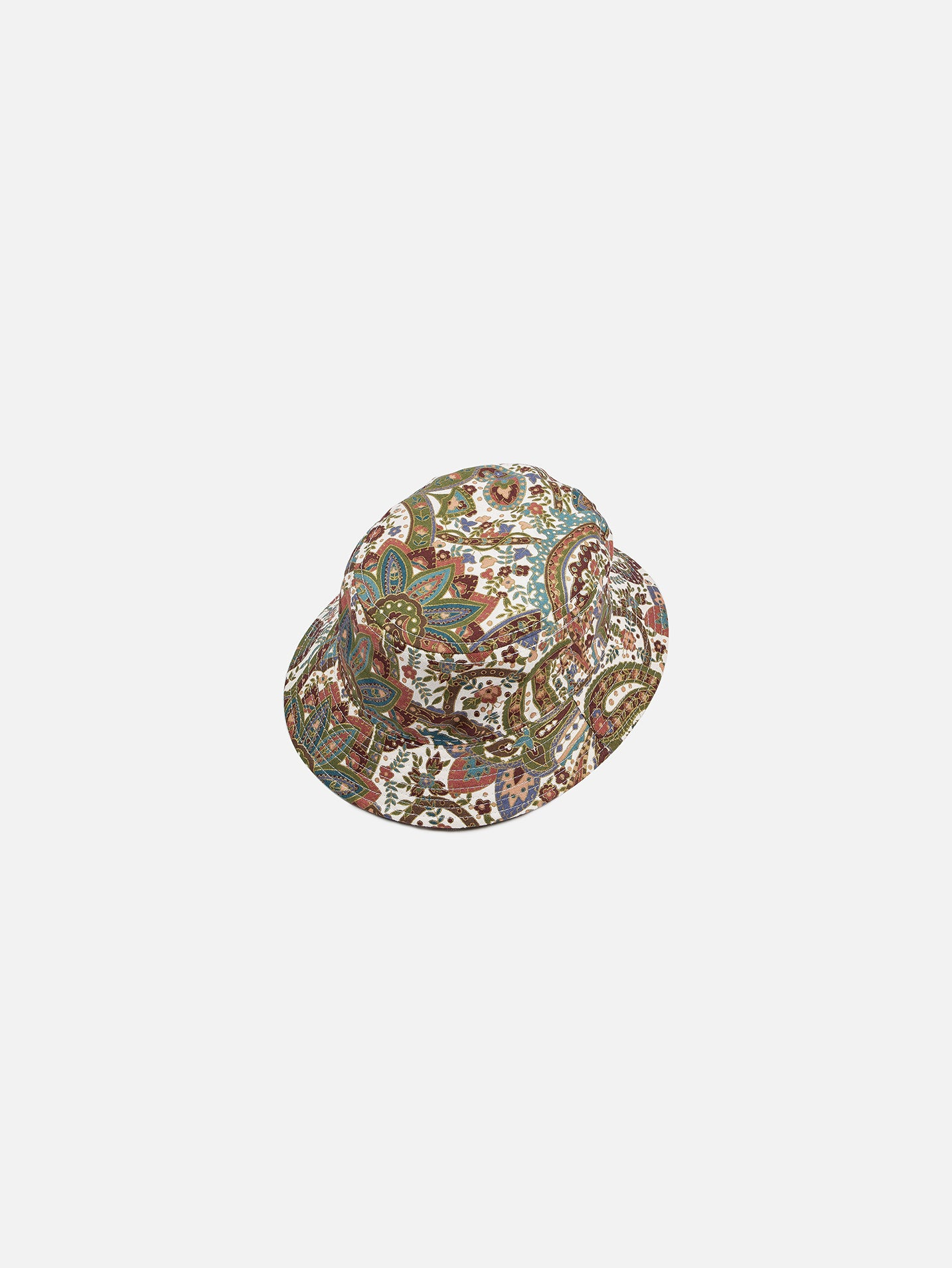 Tropical Paisley Bucket Hat - White