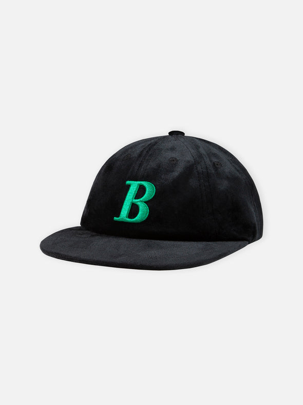 The Hundreds Velour 8 Panel B Logo Cap