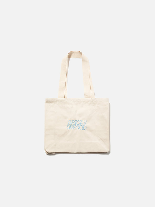 Canvas Logo Tote Bag - Sky