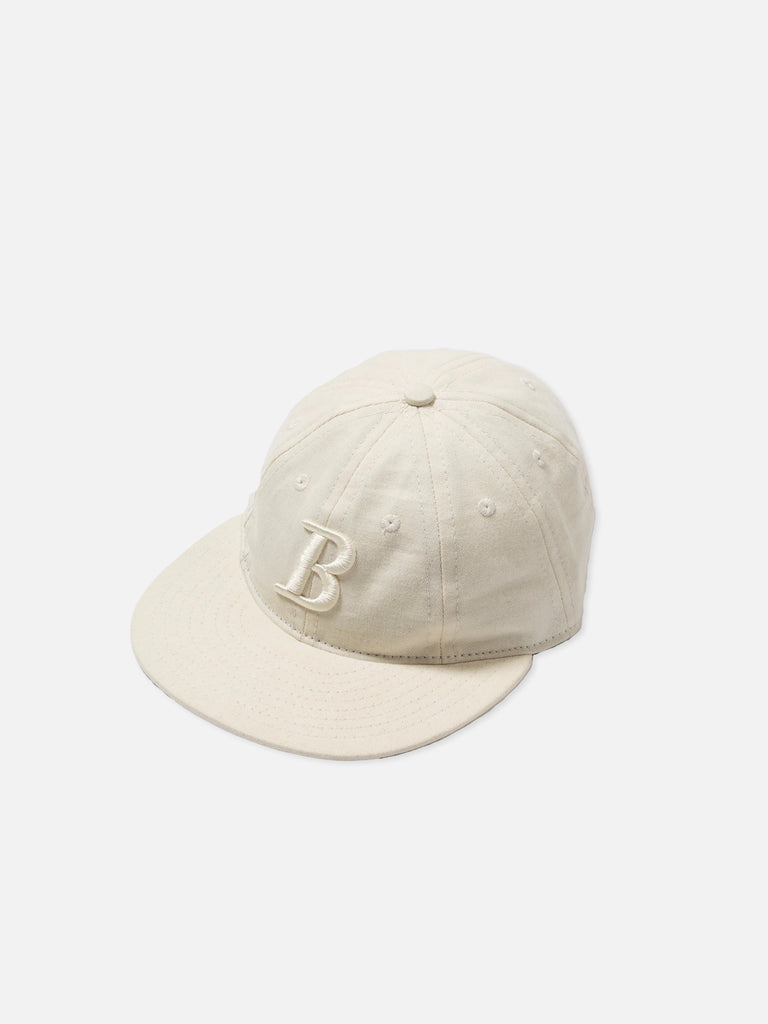 "Cream ""B"" Logo 8 Panel Cap"