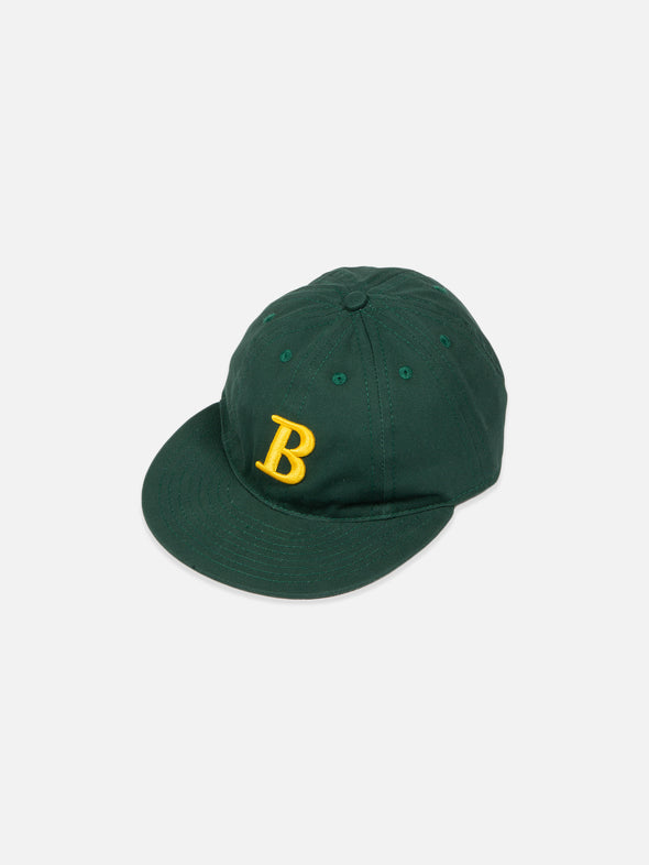 """B"" Logo 8 Panel Cap - Hunter Green"