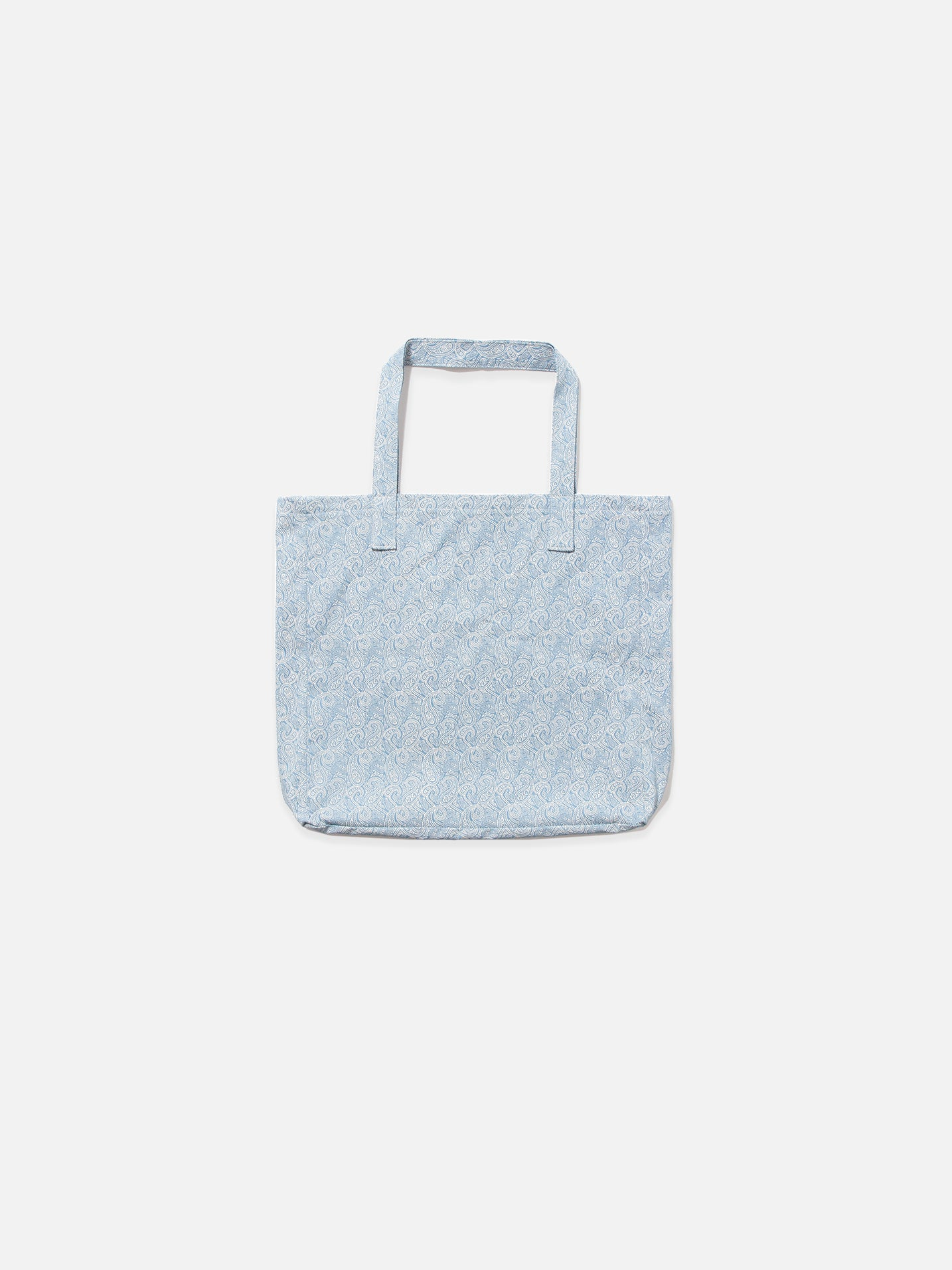 Chambray Denim Paisley Tote Bag