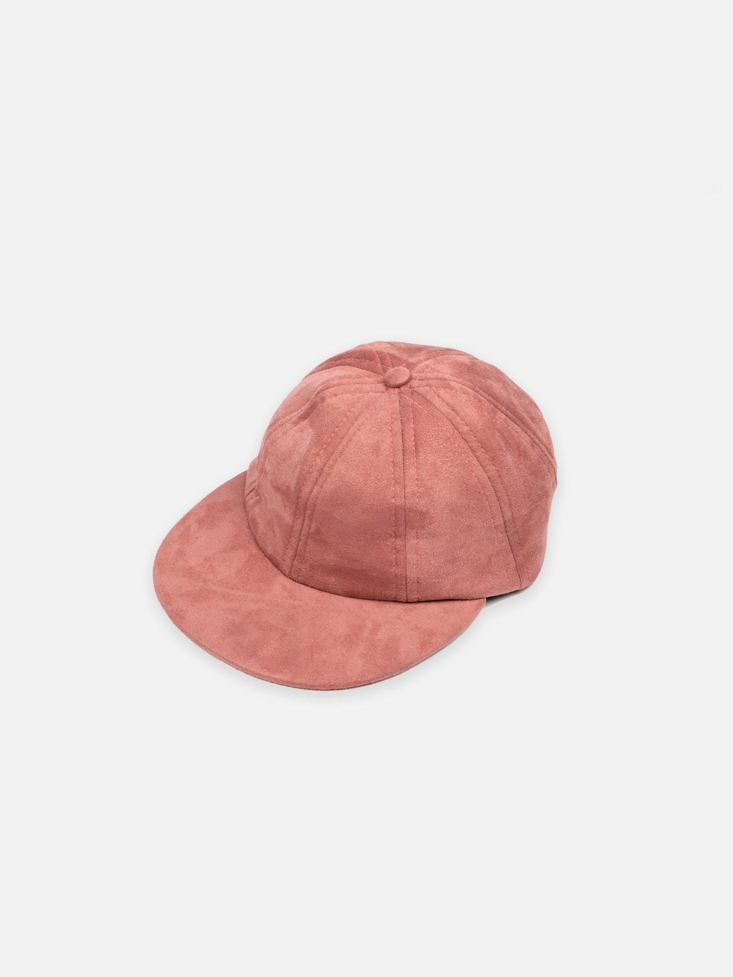 Suede 8 Panel Cap - Salmon