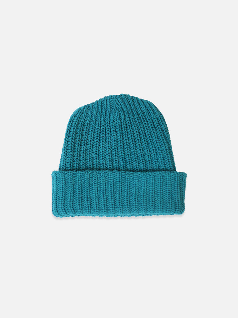 Turquoise Heavy Knit Beanie