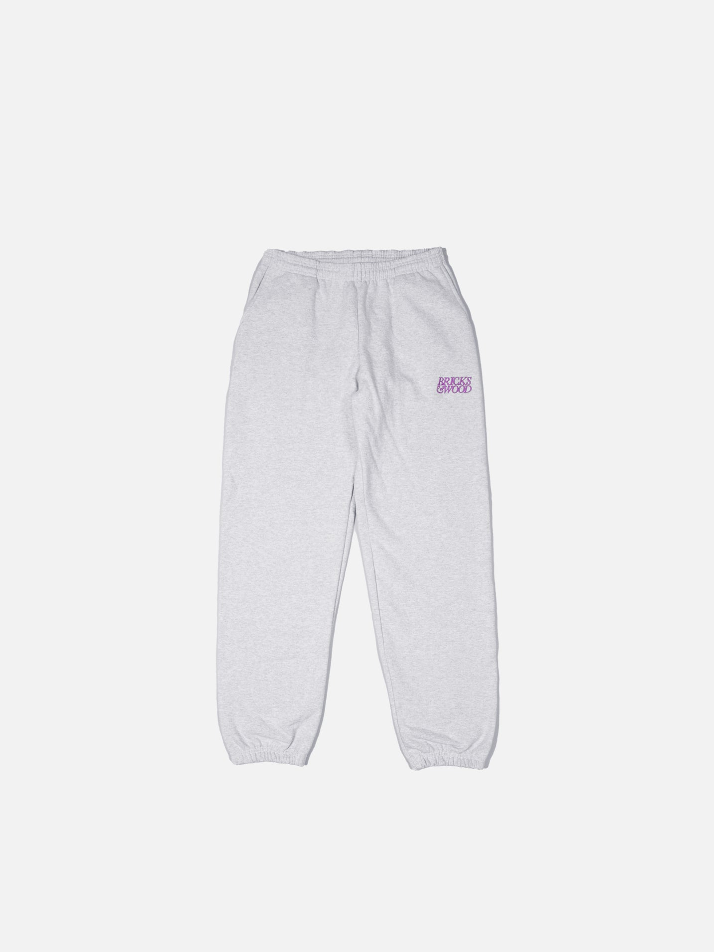 W/ Love Sweatpants - Ash/Purple
