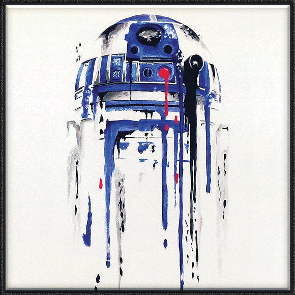 R2D2 Abstract on Travertine Stone Tile