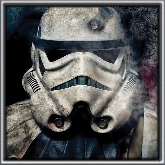 Storm Trooper / Star Wars on Travertine Stone Tile