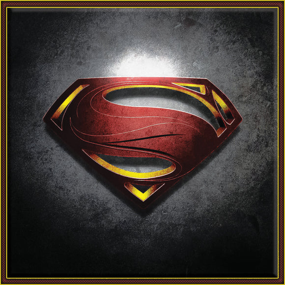Superman Logo on Travertine Stone Tile