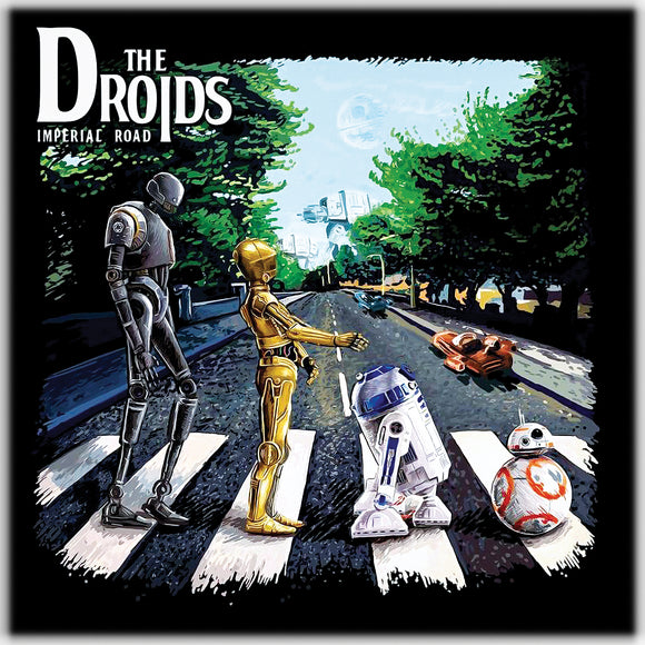 The  Droids Imperial Road from Star Wars on White Ceramic Coaster