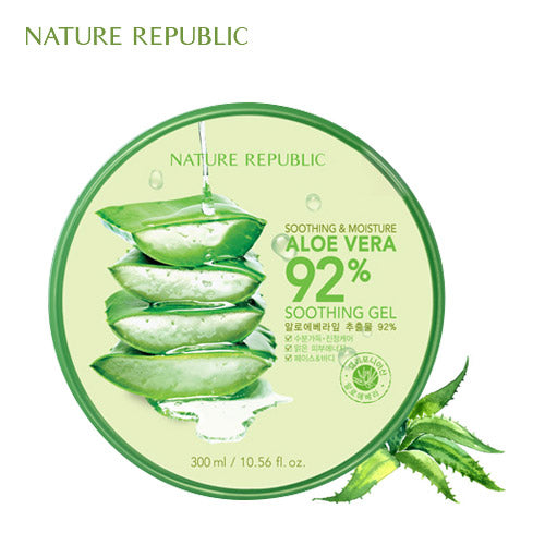 [Nature Republic] 수딩 앤 모이스처 알로에 92% 수딩젤 Aloe Vera 92% Soothing Gel 300 ml - HotDeal.Koreadaily