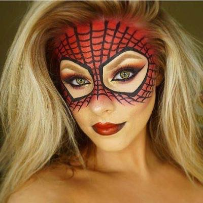 Halloween best magic makeup for fairy, unicorn, mermaid or other amazing creature! Spiderman makeup