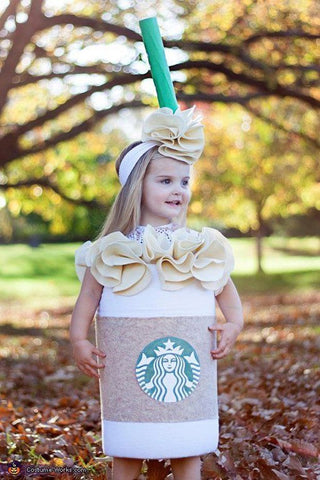 Starbucks coffee cup Halloween costume for little girl
