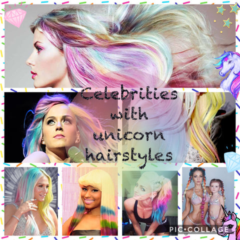 Best celebrity unicorn hairstyles