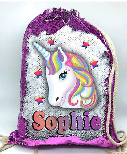 Personalized Unicorn Sequin Backpack