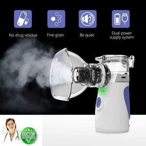 2 x New Portable Breath Ease Nebuliser