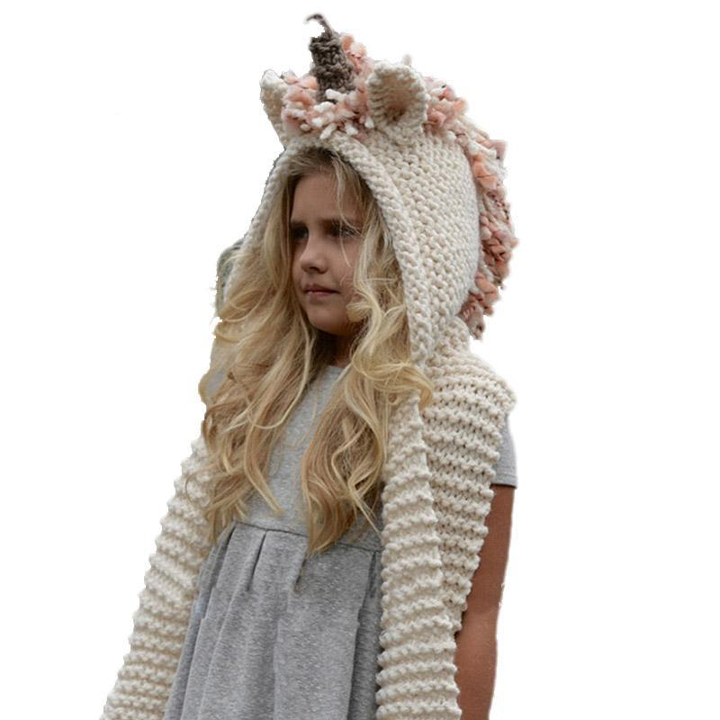 Magical Unicorn Hooded Scarf With Pockets Crochet Pattern My