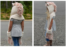 Magical Unicorn Hooded Scarf With Pockets Crochet Pattern